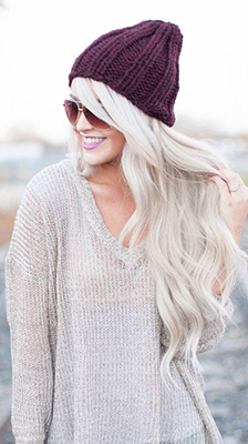 silver platinum blonde hair