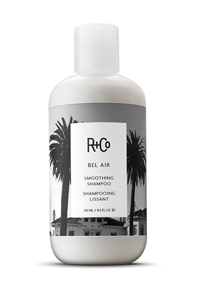 <b> BEL AIR </b> </br> Smoothing Shampoo <br> <i> For Even Smoother, Sleeker Hair</i></br> <br> <i> $24.</i></br>