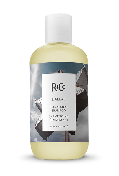 </i><b>DALLAS </b></br>Thickening Shampoo<br> <i> Non Stop On Your Journey To </br>Texas-Sized Hair</i></br> <br> <i> $24.</i></br>