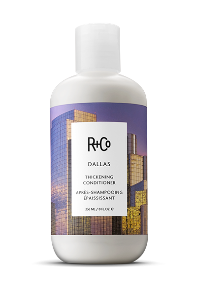 <b>DALLAS</b></br>Thickening Conditioner<br> <i> Non Stop On Your Journey To </br>Texas-Sized Hair</i></br> <br> <i> $25.</i></br>
