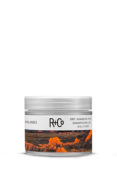 <b>BADLANDS</b></br>Dry Shampoo Paste </br><i>One Part Dry Shampoo, One Part Styling Paste And </br>100% Badass. Adds Texture And Hold To Slept On Hair<br/>$28.</i>
