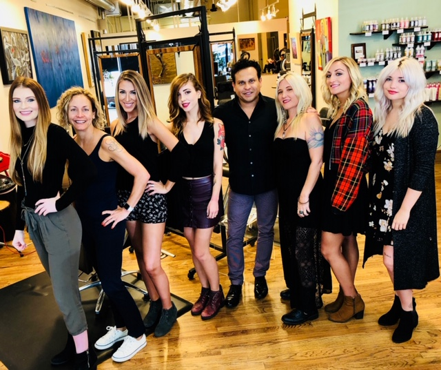 The staff at Studio Chavarria Hair Salon 2018.