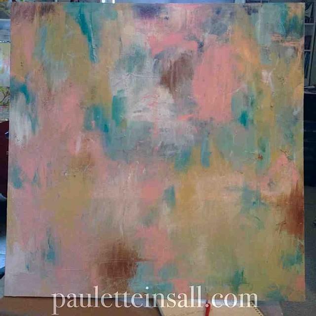 acrylic painting in progress