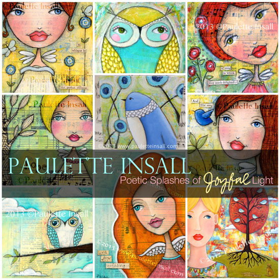 art collage paulette insall