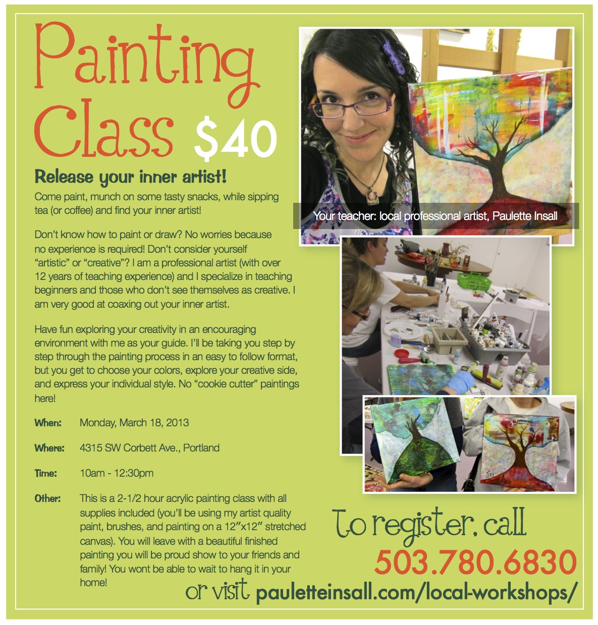 Release Your Inner Artists Painting class