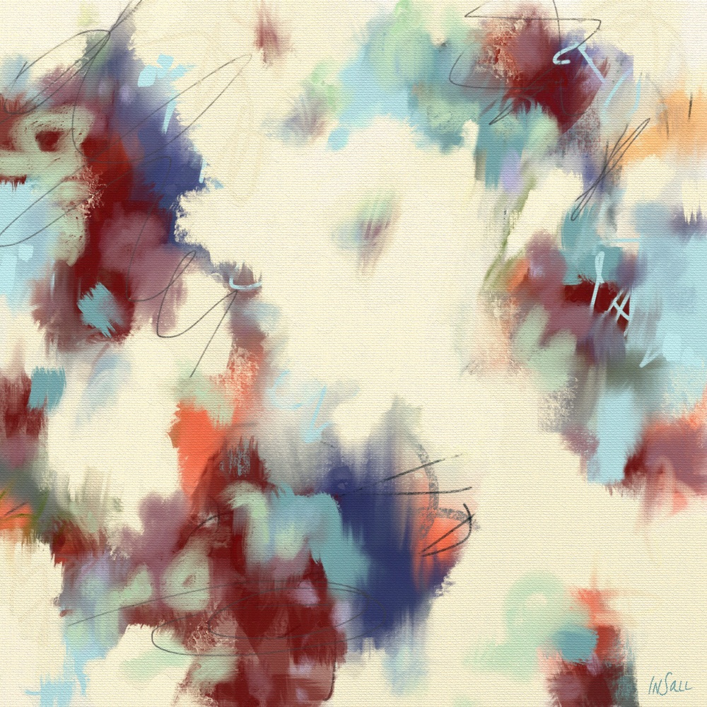 """The Whisper of Angel Wings"" digital abstract painting by Paulette Insall"
