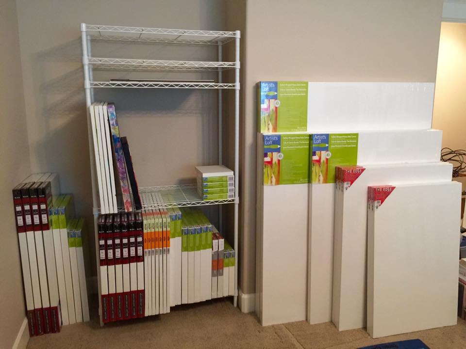 Canvas storage organized
