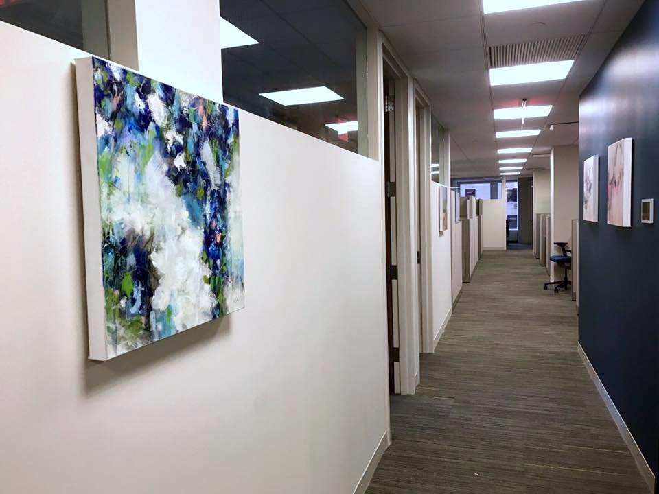 Artwork Install at Memorial Sloan Kettering in Manhattan, New York