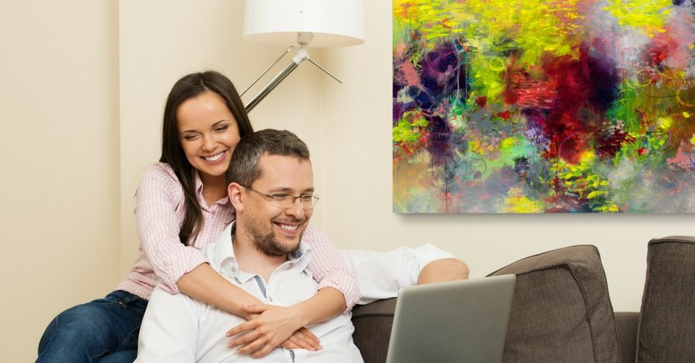 Does your home need cheering up? - joyful modern impressionist art inspired by nature