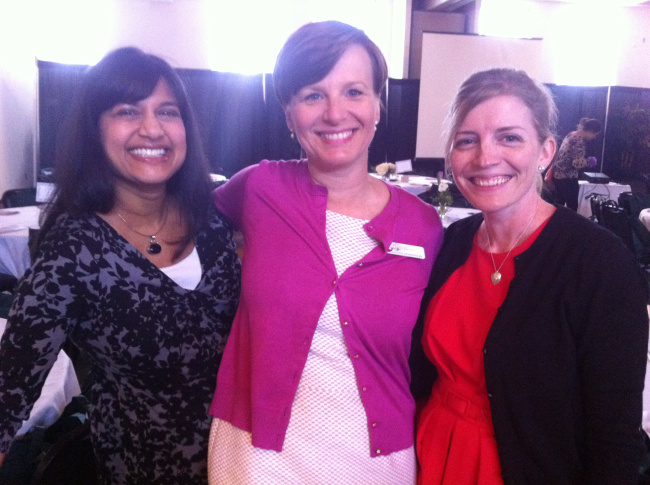 Some founding members of Project Home Indy paused for a photo at a recent fundraiser. From left to right: Lakshmi Hasanadka, Christine Koennecke, and Kristen Schunk Moreland.