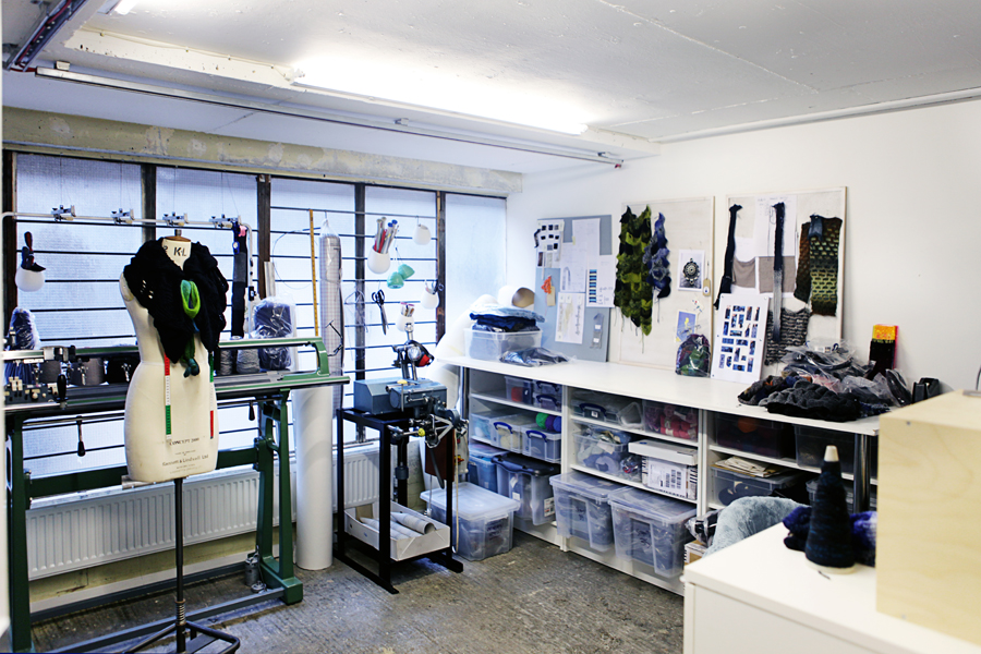 A view of the knit studio