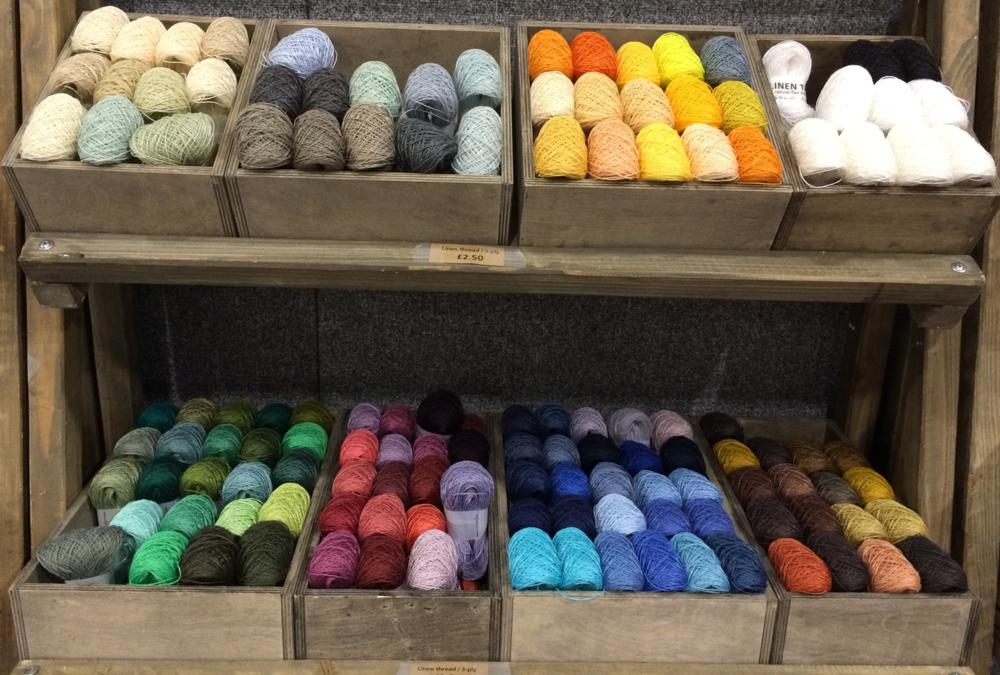 Namolio's beautiful shades of fine linen yarn