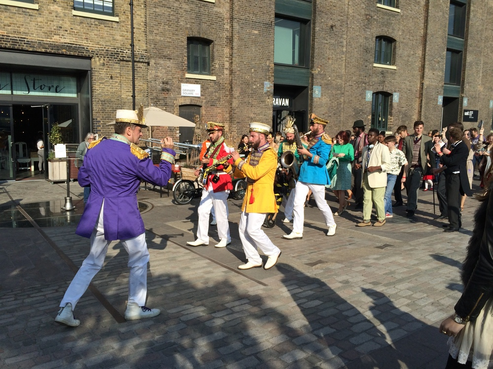Mr Wilson's Second Liners whipping up a party atmosphere at last years event in Granary Square