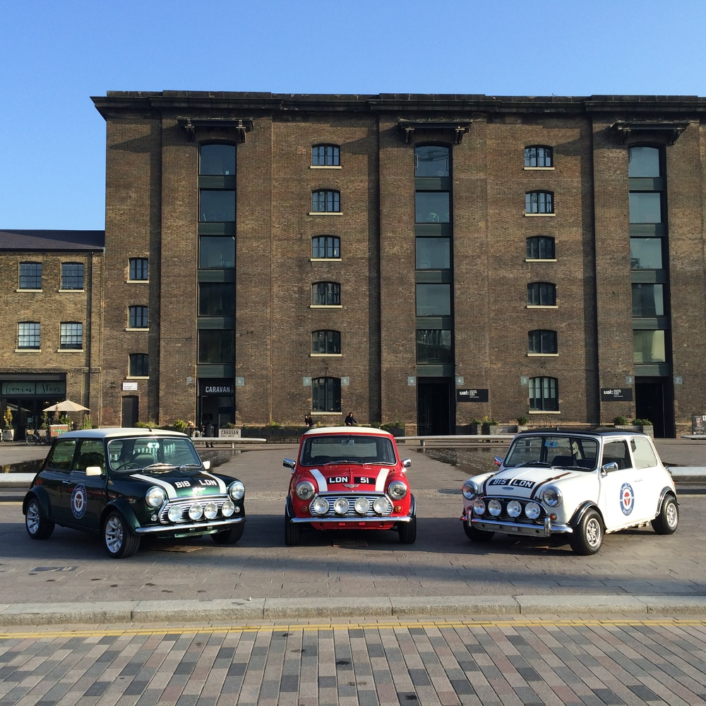 Some classic British cars at last year's event in Granary Square, Kings Cross, London
