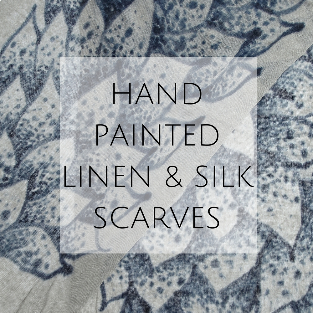 Hand Painted Linen & Silk Scarves
