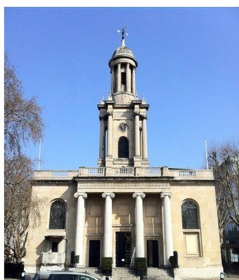 The stunning venue, One Marylebone, a former church designed by Sir John Soane