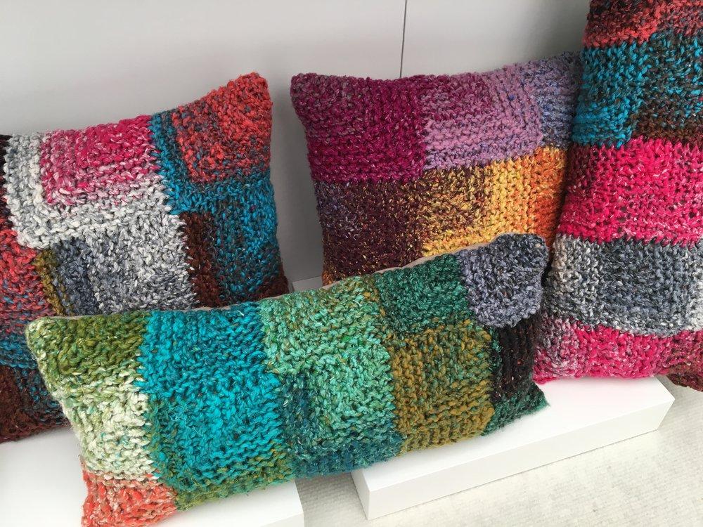 CHELACHE hand knitted cushions