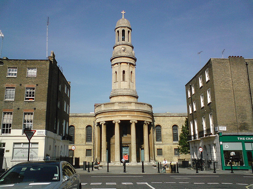 St Mary's Exterior; view from Wyndham Place / Bryanston Square