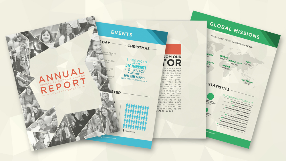 annual report adobe indesign template one church resource