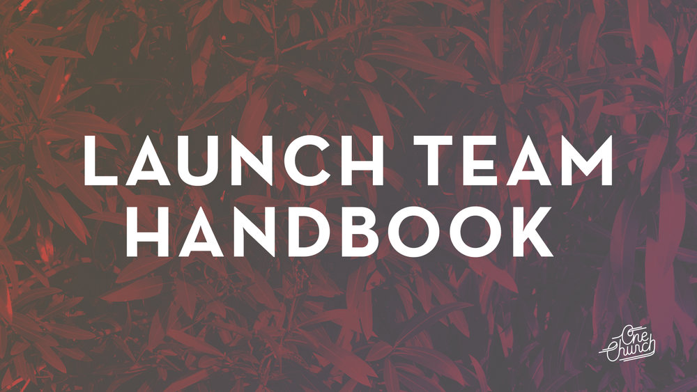 Launch Team Handbook - Indesign Template