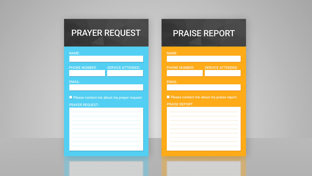 Prayer & Praise Cards - Templates