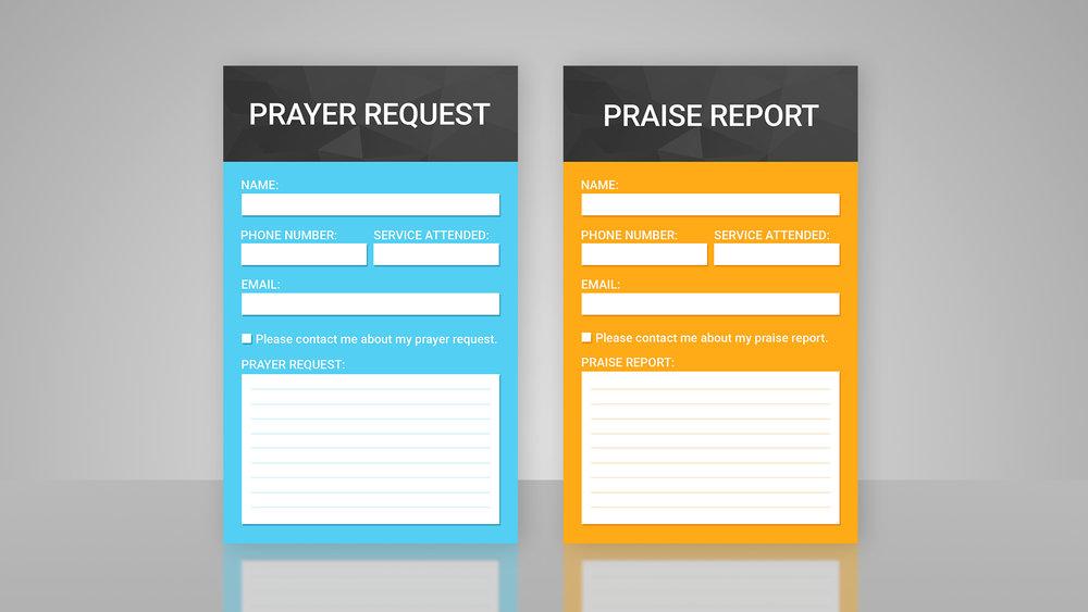 Prayer & Praise Cards - Templates