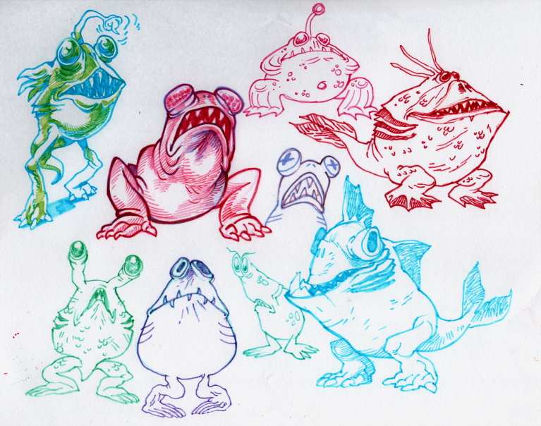Canvey Island monster sketches