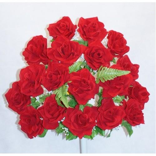 Silk flowers rodriguez importsroses in full bloom red mightylinksfo