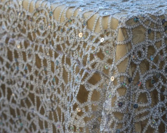 Tablecloths And Napkins Amazon Gold LACE SEQUIN TABLECLOTH