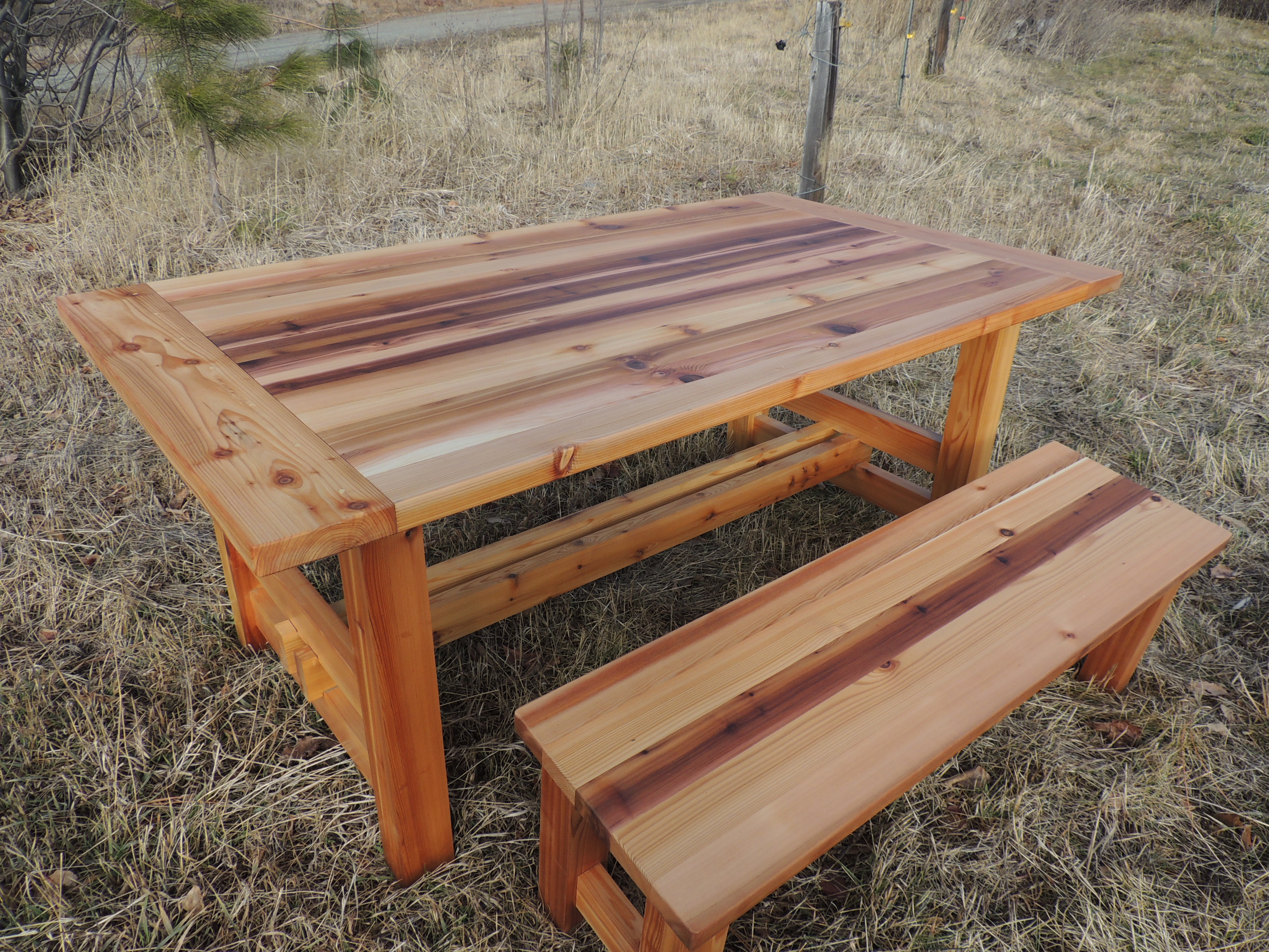 The Bear Necessities Picnic Table, And Benches