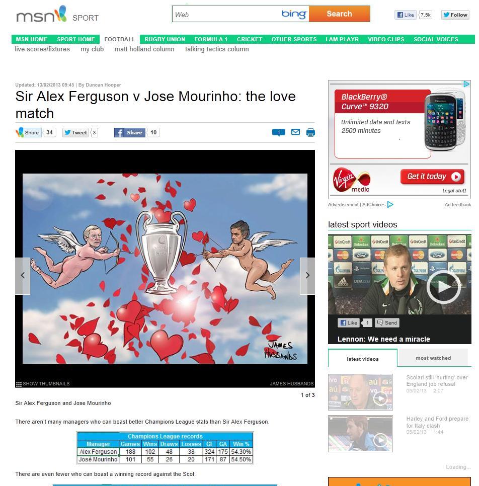 Sir Alex Ferguson v Jose Mourinho