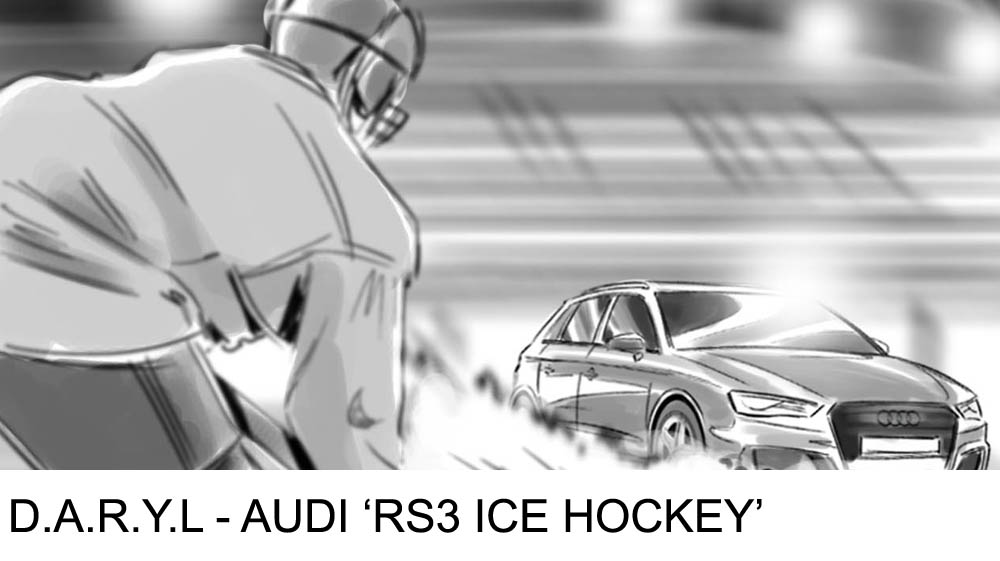 D.A.R.Y.L - Audi RS3 Ice Hockey ad campaign