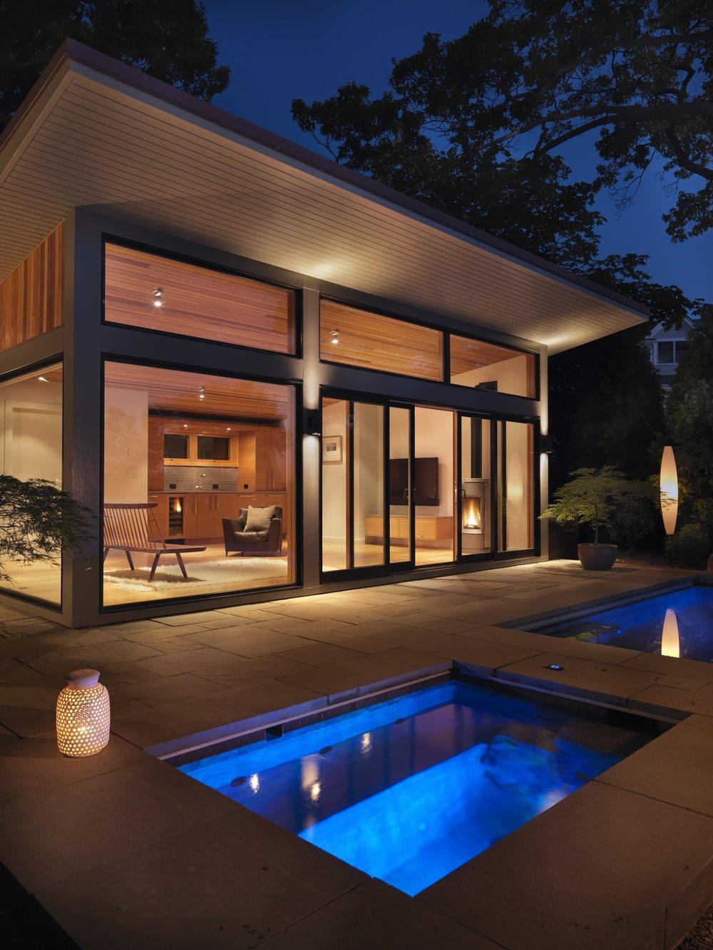 Loewen doors & windows + water=relaxation