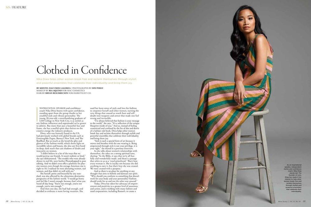 Clothed in Confidence - METRO STYLE | OCTOBER 2018