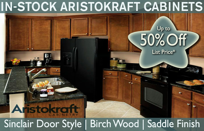In-stock Aristokraft Cabinets