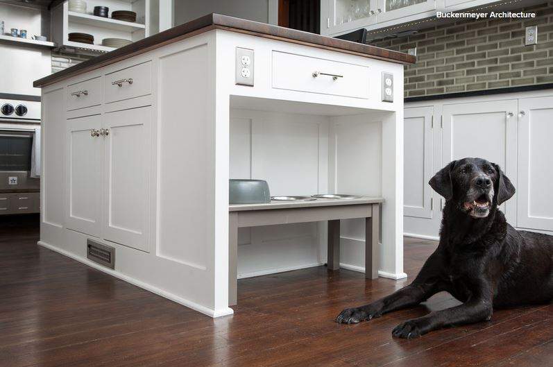 In This Project, By Buckenmeyer Architecture, Finding A Space For The Dog  Dishes Was A Key Design Consideration. U201cA Recess At One End Of The Island  Keeps ...