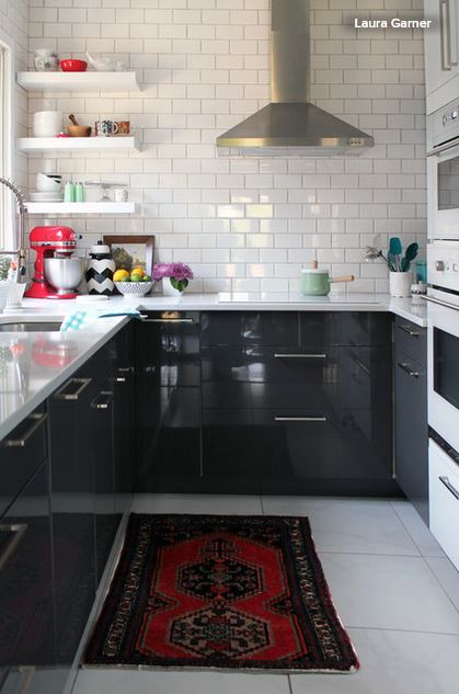 10 pair ups for black in the kitchen american cabinet for Black lower kitchen cabinets