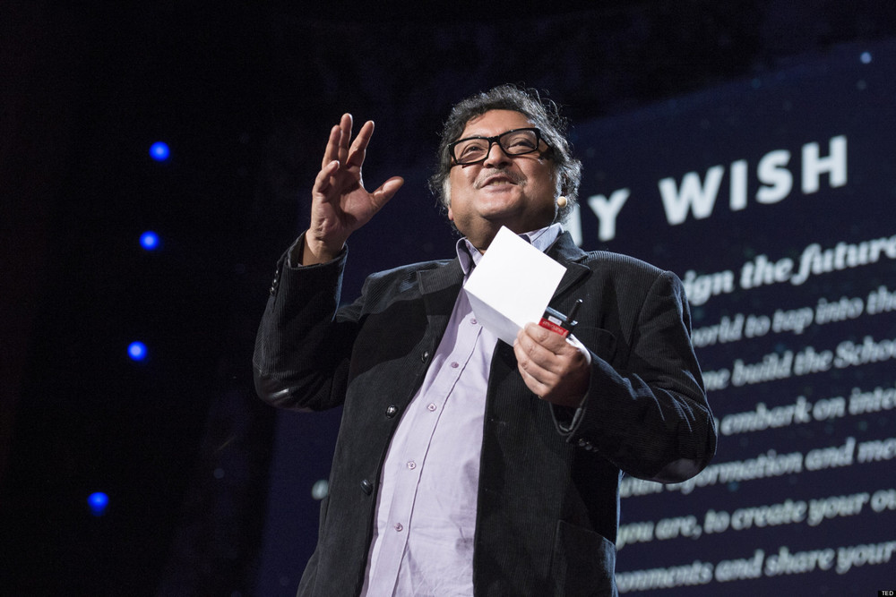 Image: Sugata Mitra TED talk 2013
