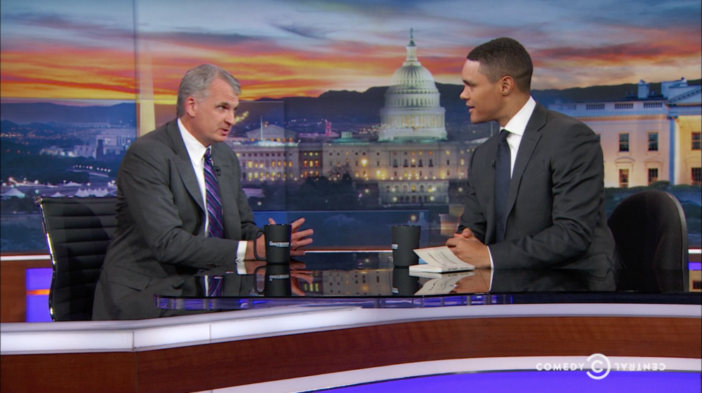 Professor Timothy Snyder speaking about his #1 bestselling book  ON TYRANNY: TWENTY LESSONS FROM THE TWENTIETH CENTURY  on  The Daily Show .