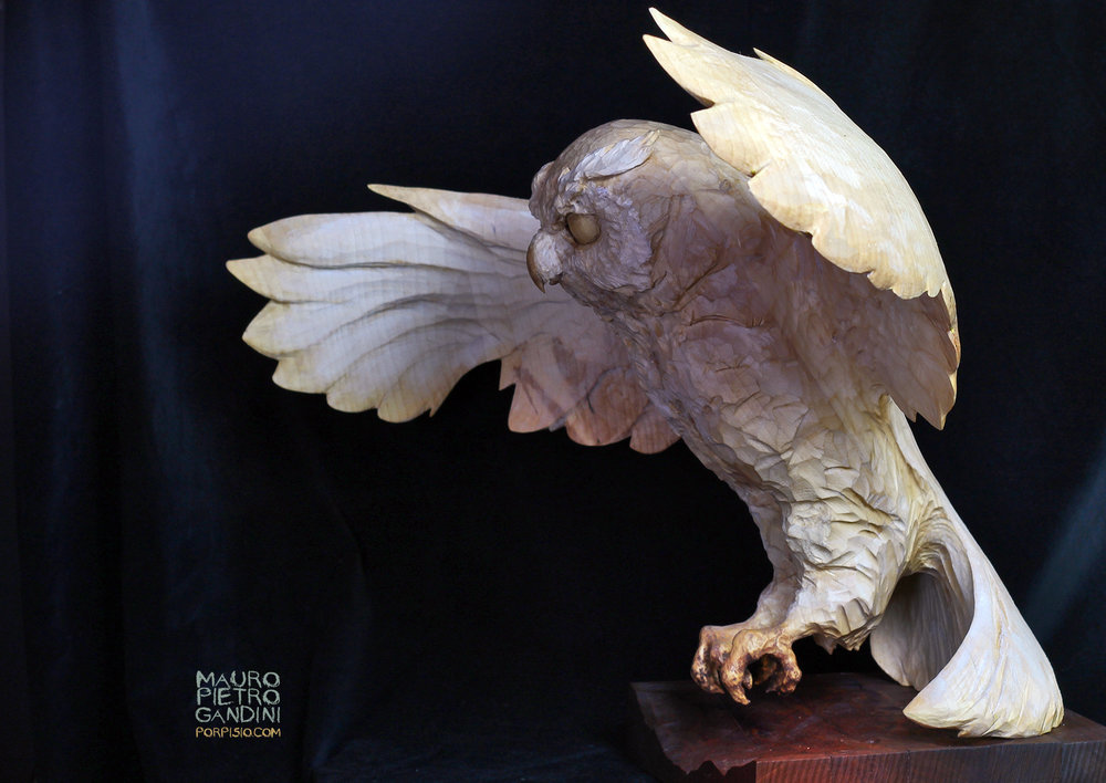Owl, handmade, real size