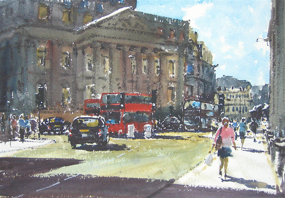 Mansion House, London:  13.5 x 19 in: £950