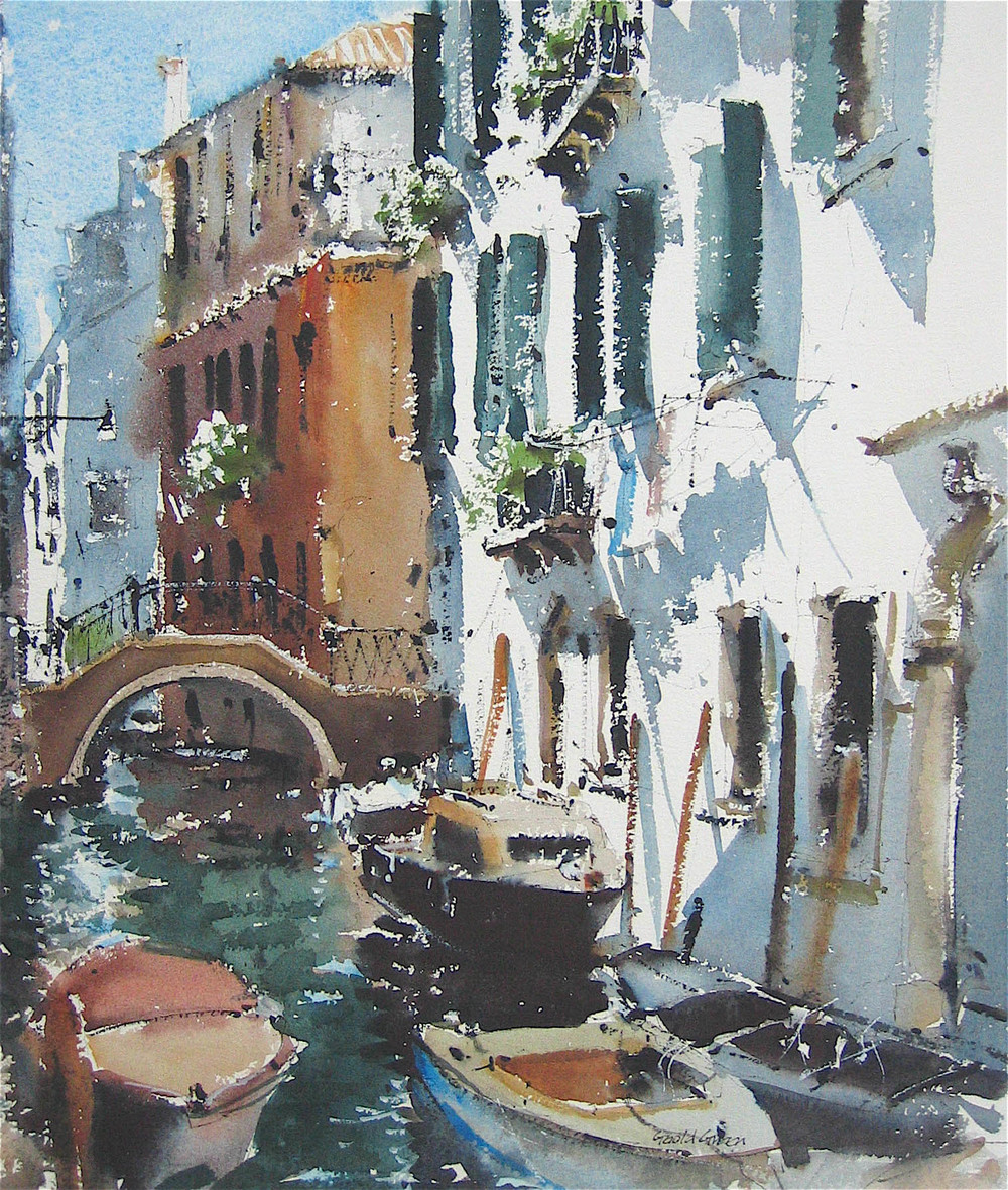Quiet Canal Venice:  15 x 11.5in: SOLD