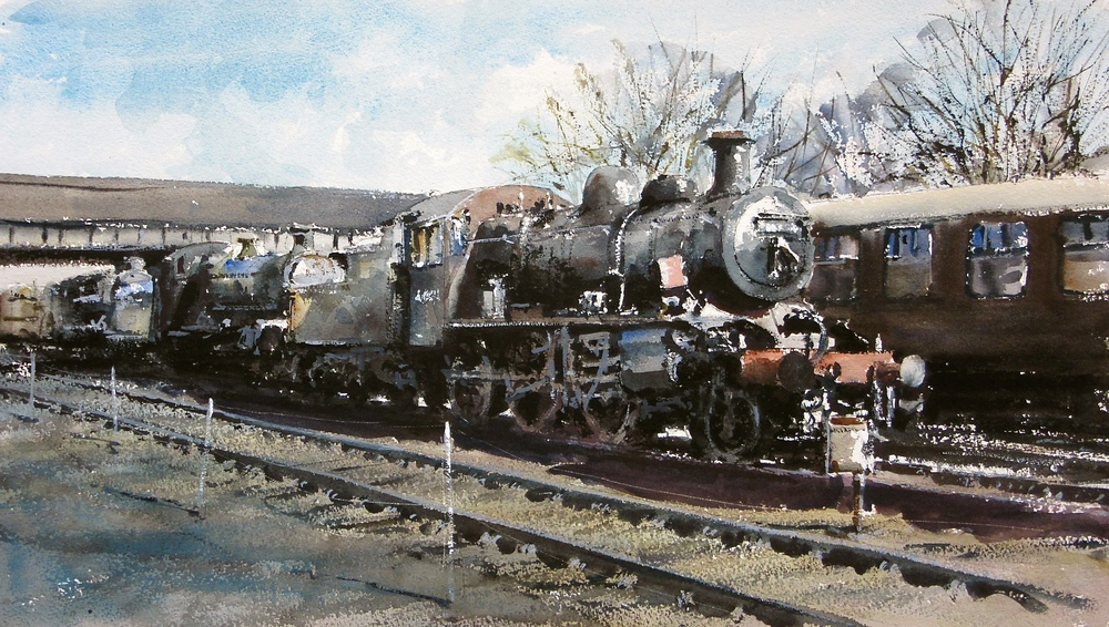 Not To Be Moved - Loughborough Shed: 13 x 24 in: watercolour: £1150