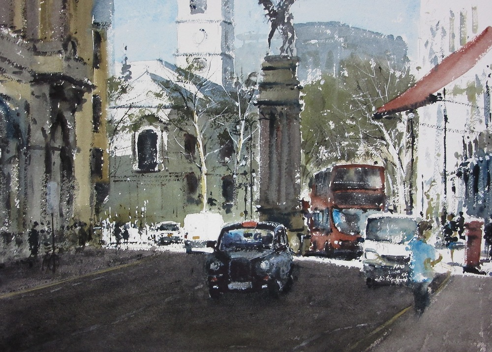 Fleet Street London: 13.5 x 19 in: SOLD