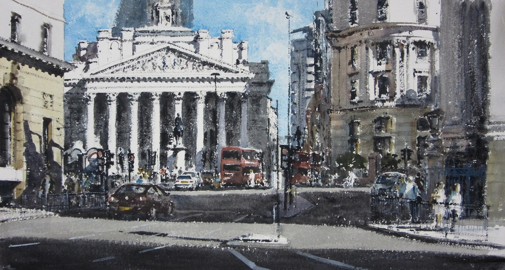 Towards the Royal Exchange London: 13 x 24 in: £1150