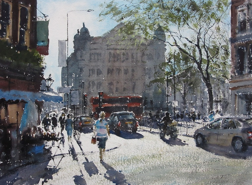 Cambridge Circus London: 13.5 x 19 in: SOLD