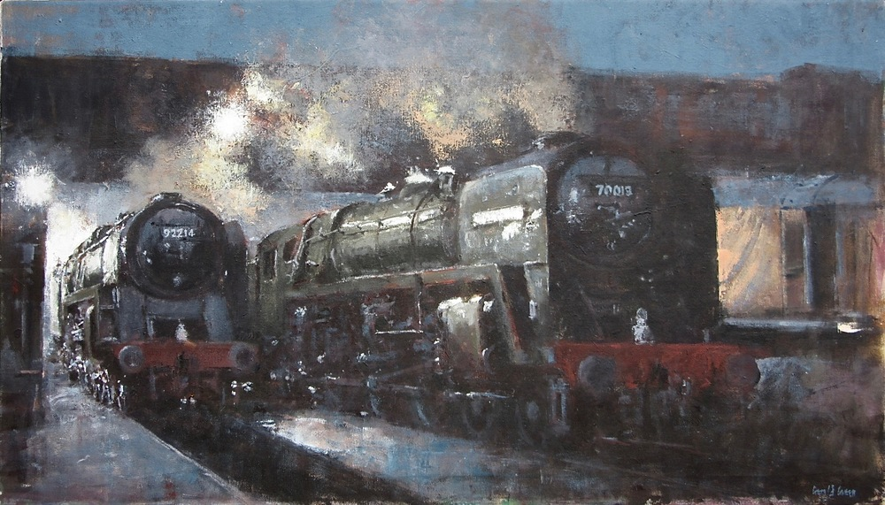 Early Morning Loughborough: 24 x 42 in: oil