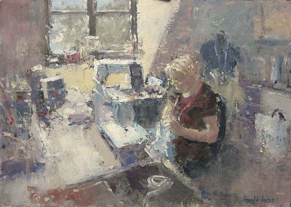 The Sewing Room: 11.75 x 16.5 in