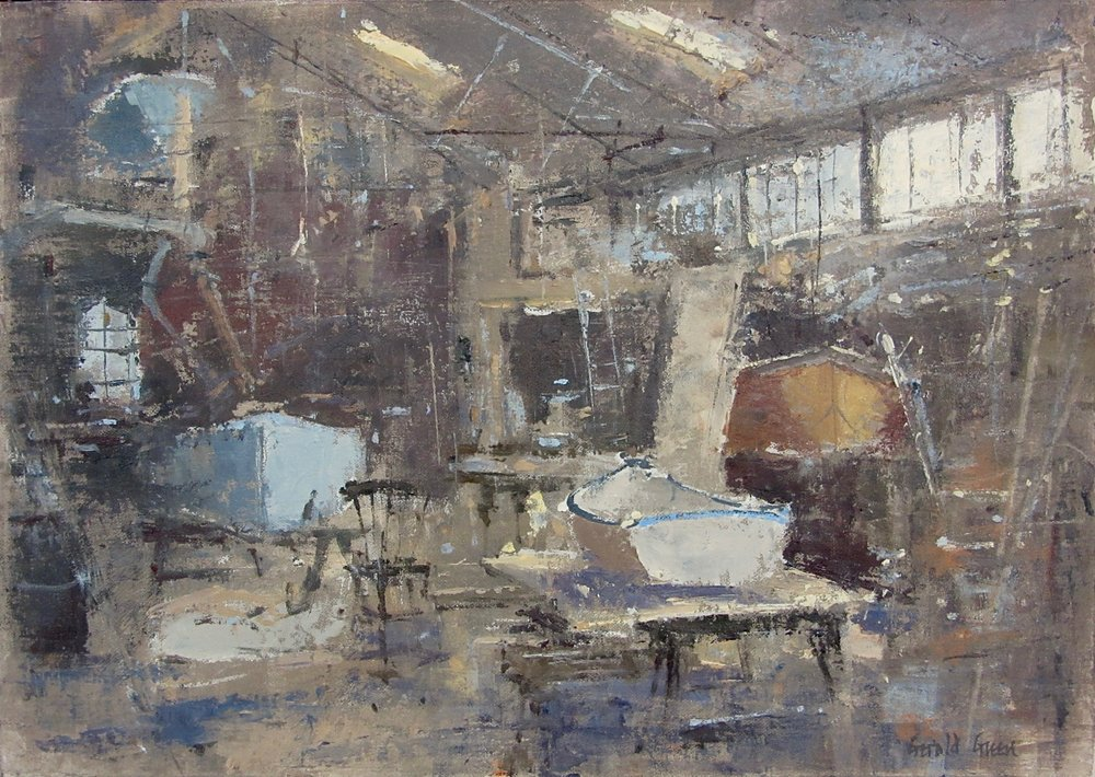 Boat Shed Felixstowe Ferry: 11.75 x 16.5 in: £950    (currently at The Wykeham Gallery Stockbridge)