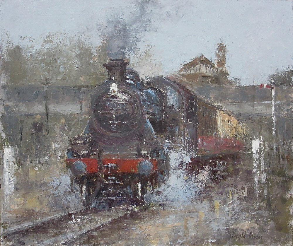 Ready to Leave: 12 x 14.25 in: oil: £900